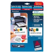 Carte de visite laser Avery Quick and Clean C32026 85 x 54 mm 270 gr blanche - Pochette de 100