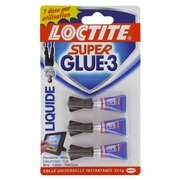 Pack 3 tubes glue Super Glue liquid 1 g