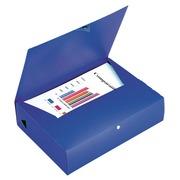 Boîte de classement plastique Viquel dos 8 cm rouge