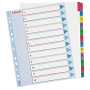 Rewritable dividers, A4, 12 divisions