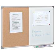 Bivalent board 120 x 90 cm aluminium