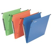 Suspension files for cabinets 33 cm polypropylene bottom 15 mm, assorted colours