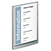 Plaque murale 32,8 x 23,3 cm Click Sign Durable blanche