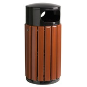 Round waste bin 40 liters Rossignol outside wood