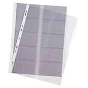 Package of 10 PVC business card sleeves21x29,7 cm
