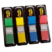 Set 4 dispensers 35 bookmarks 12.7 mm, assorted pastel colours