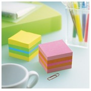 Bloc cube couleurs citron Post-it 51 x 51 mm - bloc de 400 feuilles