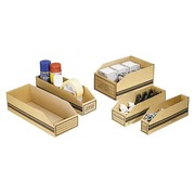 Cardboard storage boxes 300x50x110 mm (1,6 litre)