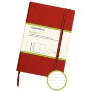Notitieboekje 140 x 215 mm gelijnd 192 pagina's rood