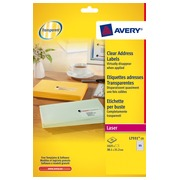 Package of 1625 address labels Avery L 7551 38,1 x 21,2 mm for laser printer
