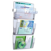 Plastic wall display 3 compartments Cep colourless
