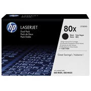 Pack of 2 toners HP 80X black