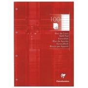 Notizblock Clairefontaine 2 Lochungen A4 100 Seiten - liniert und mit Bord