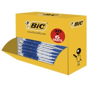 Pack of 30 ballpoint pens Bic Atlantis retractable black + 6 free
