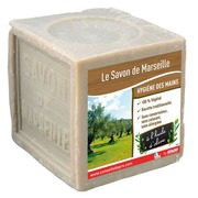 Block of 600 g Marseille soap with olive oil