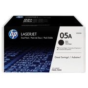 Pack 2 toners HP 05A black