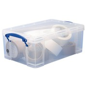 Boîte de rangement plastique 9 L Really Useful Box incolore