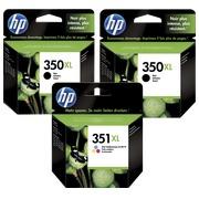HP350XL+351XL, pack 2 cartouches noires + 1 cartouche 3 couleurs haute capacité pour imprimante jet d'encre
