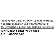 COLOP Printer 45 - IBAN/BIC