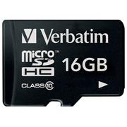 Verbatim - carte mémoire flash - 16 Go - microSDHC