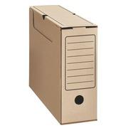 Boîte archives carton Éco dos 10 cm brune