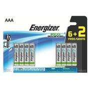 Verpakking met 6 + 2 batterijen Energizer Eco Advanced LR03