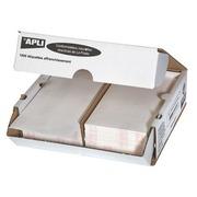 Etiquette affranchissement 2 de front 175 x 45 mm Apli Agipa blanche - Boîte de 1000