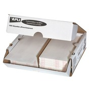 Box of 1000 postage labels 2 pieces 170 x 45 mm Apli Agipa white