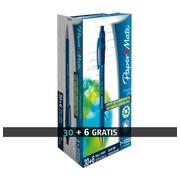 Pack de 30 stylos bille Flexgrip Ultra Papermate rétractables bleus + 6 offerts
