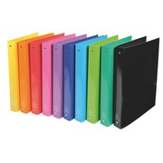 Folder with 4 rings cardboard A4 Exacompta Iderama back 4 cm assorted colours