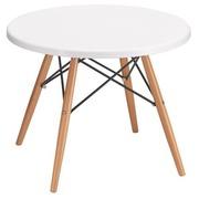 Pack niedrige Tisch + 2 Stühle Oréa weiß