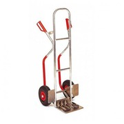 Aluminium hand truck with fixed shovel - capacity 200 kg