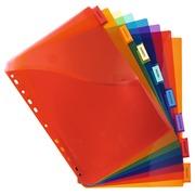 Intercalaires avec pochette polypropylène 8 positions - A4 maxi