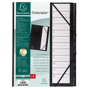Multipart file Ordonator with elastic straps 12 numerial tabs from 1 to 12 - A4