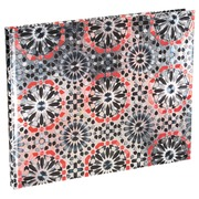 Gastenboek Metallic kaft - 100 pagina's - 22x27 cm horizontaal
