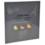 Album de collection pour 50 médailles touristiques - 25,5x28 cm
