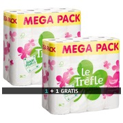Toilet paper Le Trèfle package with 1 pak + 1 FREE