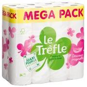 Packung mit 24 Rollen Toilettenpapier Le Trèfle Maxi
