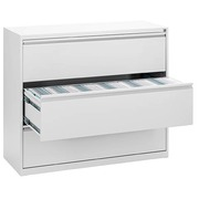 Crédence monobloc L 120 cm 3 tiroirs blanc