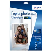 Papier photo jet d'encre Avery A4 180 g - 40 feuilles