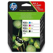 HP 934XL - 935XL Pack 4 cartridges : 1 zwarte + 1 kleurcartridge voor inkjetprinter