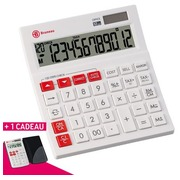 Pack 1 calculatrice de bureau Bruneau + 1 calculatrice de poche Bruneau OFFERTE
