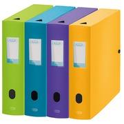 Boîte de classement plastique Elba Memphis dos 8 cm couleurs assorties mode