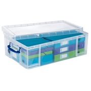 Really-Useful-Box Plastic Storage Box 50 L Colourless