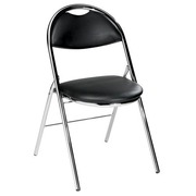 Folding Chair Super Comfort Black Vinyl