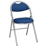 Foldable chair Super Comfort fabric non-flammable matchstick alu undercarriage - blue