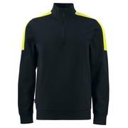 2128 Sweatshirt 1/2 zip Black 4XL