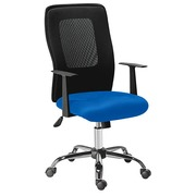 Office chair SEATTLE -  Tilt back mechanism blue