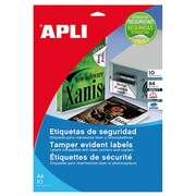 Ultra strong laser labels  45,7 x 21,2 mm Apli - white - sleeve of 480