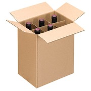 Box for 6 wine bottles